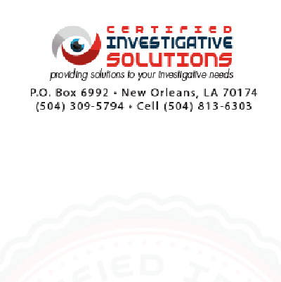 Certified Investigative Solutions Letterhead
